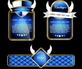 Royal luxury labels vector graphics 01