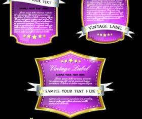 Royal luxury labels vector graphics 03