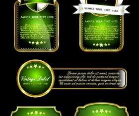 Royal luxury labels vector graphics 05