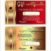 luxurious gift certificate golden template vector 02