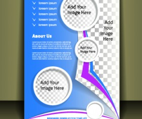 Business style brochure cover desing vector 05