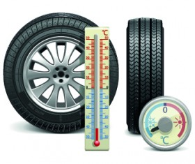 Realistic car tires illustration design vector 01
