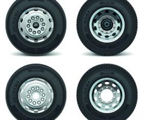Realistic car tires illustration design vector 04