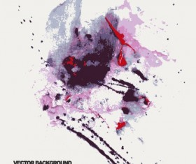 Grunge watercolor abstract background vector 01