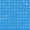 Small fine white psd icons