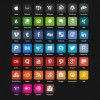 Web media psd icons creative design