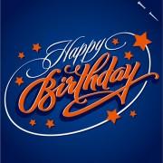 Link toHappy birthday text creative design vector