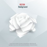 Link toWhite paper rose vector background