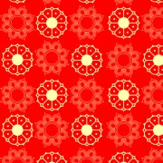 Link toRed style floral patterns vector