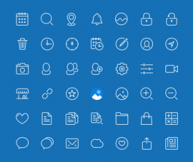 45 Kind Blue style icons