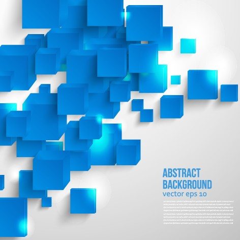 Abstract Blue Square Background Vector 02