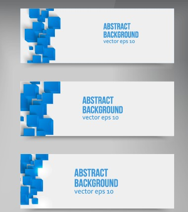 Abstract Blue Square Banner Vector 02 Over Millions