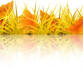 Beautiful autumn elements vector set 02