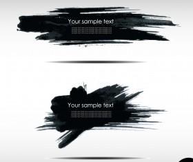 Black Ink grunge banners design vector 03