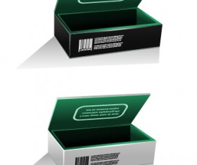 Blank package box template design vector 04