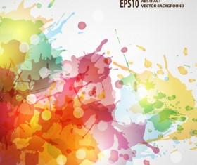 Splash watercolor blots abstract background vector 01