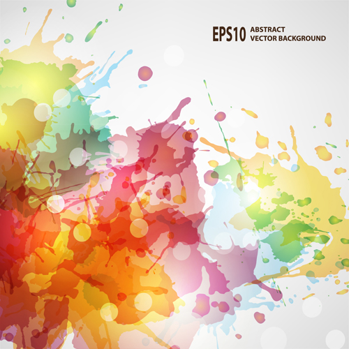 Free AI ,EPS file Splash watercolor blots abstract background vector ...