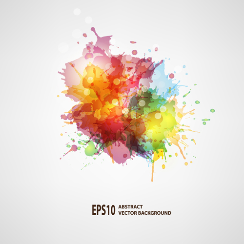 Splash watercolor blots abstract background vector 02
