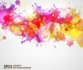 Splash watercolor blots abstract background vector 03