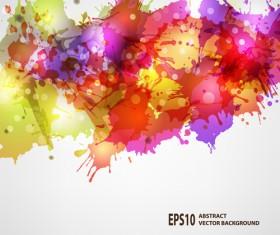 Splash watercolor blots abstract background vector 04
