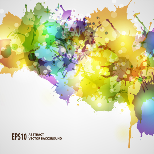 Splash watercolor blots abstract background vector 05