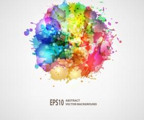Splash watercolor blots abstract background vector 06