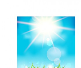 Blue sky and sun nature background