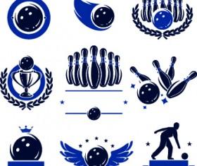 Bowling logos illustration design vector