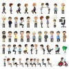 Different business people design vector set 06