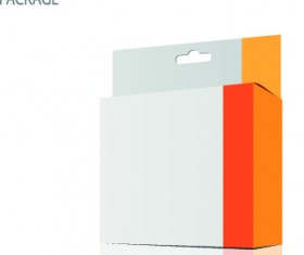 Modern cardboard package boxes illustration vector 01