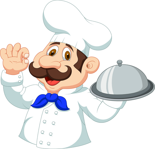 Cartoon cook cute design vector 01 vector people free for Material para chef