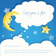 Link toCartoon cute stars and moon background vector