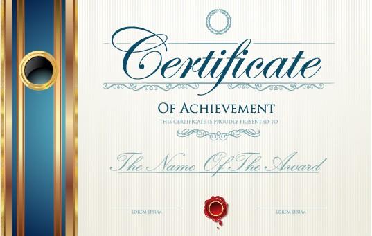 modern certificate template psd