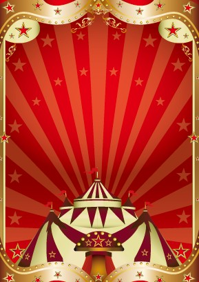 Vintage Circus Background Vector Graphic 01