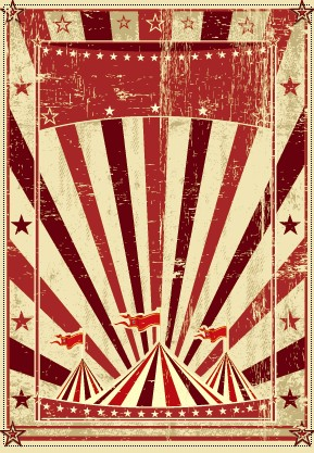 Group Of Vintage Circus Background