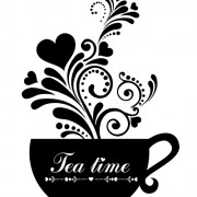 Link toCoffee cup with floral background vector 04