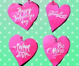 Creative Valentines Day paper cut object vector 03
