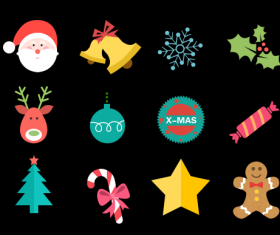 Cute christmas icon psd material