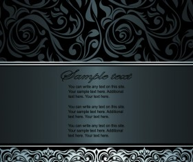 Dark style floral vintage backgrounds vector graphics 01