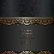 Link toDark style floral vintage backgrounds vector graphics 03