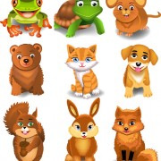 Link toDifferent lovely animals design vector