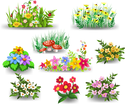 Different beautiful flower design