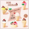 Different delicious ice cream vector