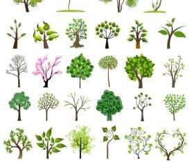 Different trees creative design vector