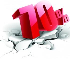 Creative discount percent design vector background 07
