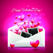 Link toEnvelope and valentines day vector background
