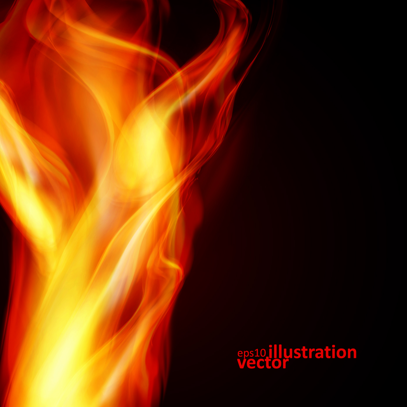 Realistic fiery background illustration vector 02 - Vector Background ...: freedesignfile.com/89998-realistic-fiery-background-illustration...