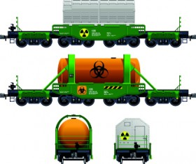 Freight Train transporter vector