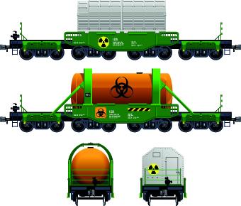 Freight Train transporter vector