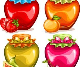 Fruit drinks food vector graphic set 01